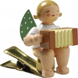 Engel auf Klemme mit Harmonika