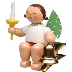 Engel auf Klemme mit Glocke...