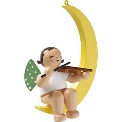 Engel im Mond mit Geige