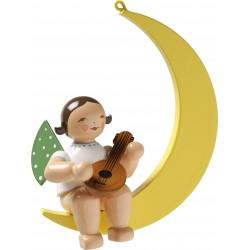 Engel im Mond mit Mandoline