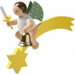 Engel auf Komet mit Glocke...