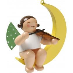 Engel im Mond mit Geige, klein