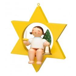 Engel im Stern mit Glocke...