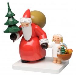 Weihnachtsmann mit Baum und...