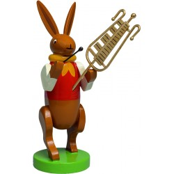 Hasenmusikant mit Glockenspiel