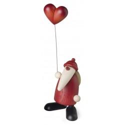 Weihnachtsmann mit Herzballon