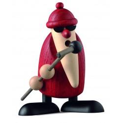 Weihnachtsmann am Mikrofon,...
