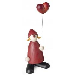 Weihnachtsfrau mit Herzballon