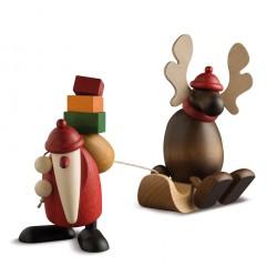 Weihnachtsmann mit Faultier