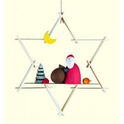 Stern mit Weihnachtsmann