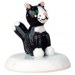 Winterkinder - schwarze Katze