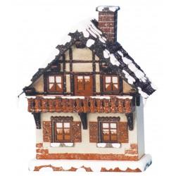 Winterkinder - Haus mit Balkon