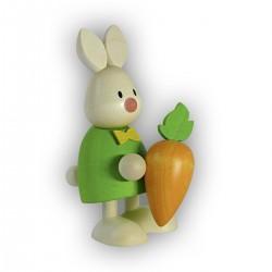 Kaninchen Max mit Möhre