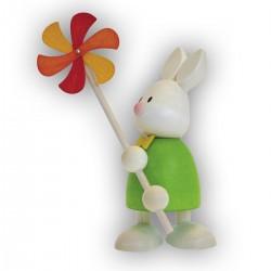Kaninchen Max mit Windmühle