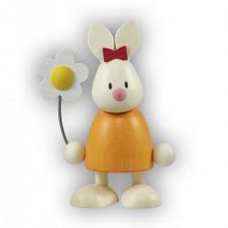 Kaninchen Emma mit Blume