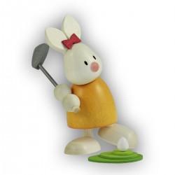 Kaninchen Emma beim Golf,...