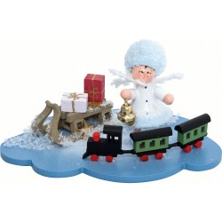 Schneeflöckchen mit Eisenbahn