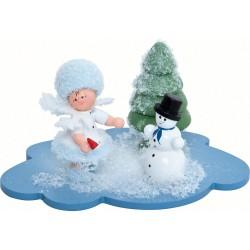 Schneeflöckchen mit Schneemann