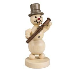 Schneemannmusikant mit Fagott