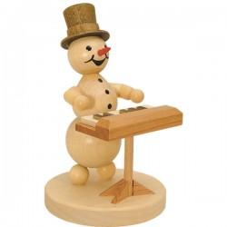 Schneemannmusikant mit...