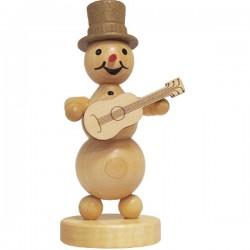 Schneemannmusikant mit Gitarre