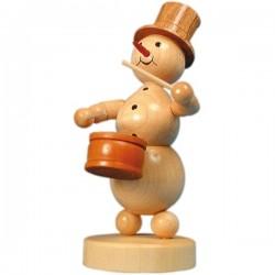 Schneemannmusikant mit Trommel