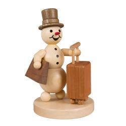 Schneemann auf Reisen