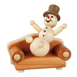 Schneemann auf Sofa