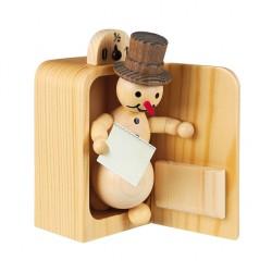 Schneemann im Kühlschrank