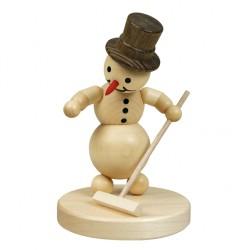 Schneemann Curlingspieler...
