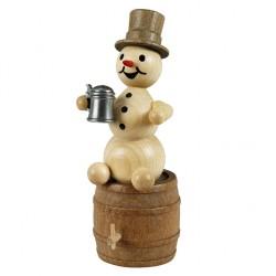 Schneemann mit Krug auf...