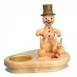 Teelichtleuchter Schneemann...