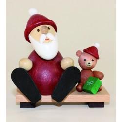 Weihnachtsmann mit Teddy...
