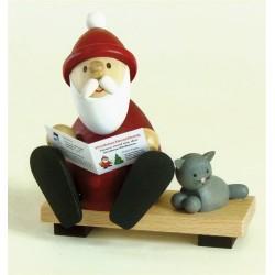 Weihnachtsmann mit Zeitung...