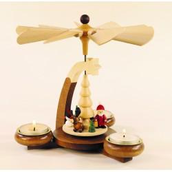 Design-Teelichtpyramide mit...