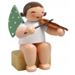 Engel klein, sitzend mit Geige