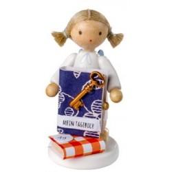 Flade Engel mit Tagebuch...