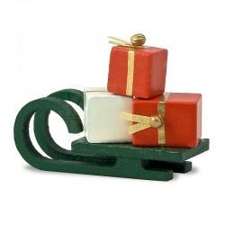Flade Schlitten mit Geschenken