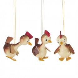Behang Hähnchen, 3 Stück
