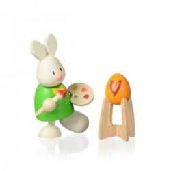 Kaninchen Max als Maler