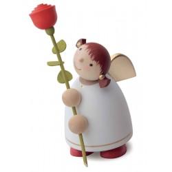 Schutzengel mit Rose, weiß