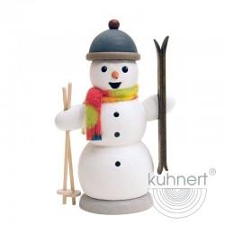 Räuchermann Schneemann mit Ski