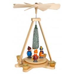 Pyramide mit Laternenkindern