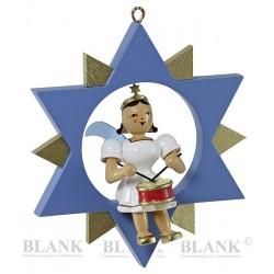Blank Engel im Stern farbig...
